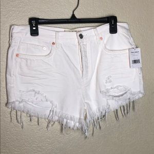 Free People Spring White Shorts (Size 28)